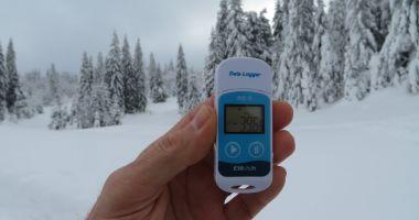 Noul record de frig în România: -39,6 grade, înregistrate la Bihor