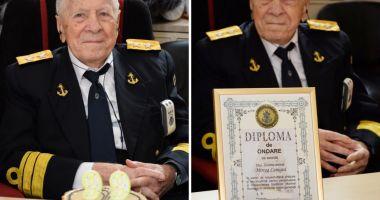 OMAGIU pentru DECANUL DE VÂRSTĂ al MARINARILOR MILITARI, la împlinirea vârstei de 102 ani!