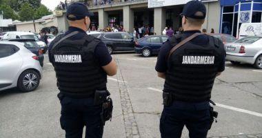 Jandarmii din Constanţa, prezenţi în zona Sălii Sporturilor