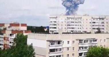 Explozii în lanț la o fabrică de muniții din Rusia. 80 de victime