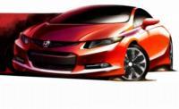 Noua generaţie Honda Civic, prezentată într-o schiţă, înaintea debutului mondial de la Detroit