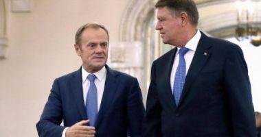 """""""Iohannis ar putea să-l înlocuiască pe Tusk ca președinte al Consiliului European"""""""
