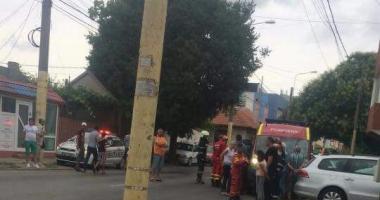 GALERIE FOTO / ACCIDENT CU 4 VICTIME, după ce un autoturism S-A RĂSTURNAT la Constanța