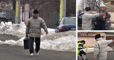 Un bărbat a plecat cu valiza criminalistică a poliţiştilor care au intervenit la un accident