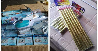 Bunuri contrafăcute şi nedeclarate la intrarea în ţară, confiscate în Portul Constanţa Sud Agigea