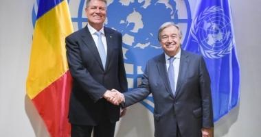 Klaus Iohannis, la ONU: România îşi menţine angajamentul privind posibila înfiinţare a unei Curţi Internaţionale împotriva Terorismului
