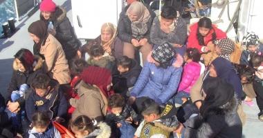 Misiune de salvare în Marea Egee. Garda de Coastă a recuperat zeci de migranţi