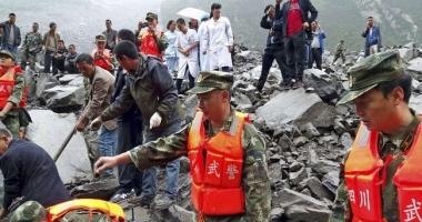 Alunecare de teren în China / Peste 120 de dispăruți. Cinci cadavre, recuperate