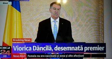 Viorica Dăncilă, desemnată premier /