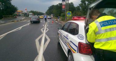 GALERIE FOTO / Accident rutier pe trecerea de pietoni din Lazu!