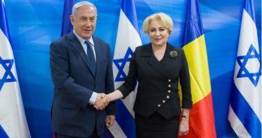 Premierul Viorica Dăncilă s-a întâlnit cu omologul israelian Benjamin Netanyahu