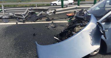 ACCIDENT rutier pe Autostrada Soarelui. O persoană este rănită