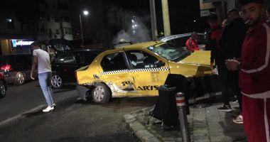 GALERIE FOTO / Accident rutier spectaculos în Constanța. CINCI VICTIME