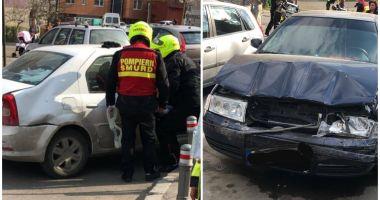 Carambol rutier la Constanţa, din cauza unei şoferiţe care nu a păstrat distanţa de siguranţă