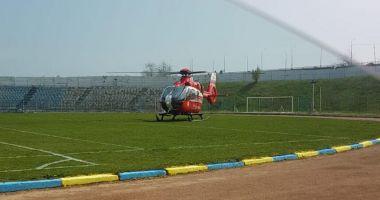 Bărbat înjunghiat de soţie, la Năvodari! Intervine elicopterul SMURD