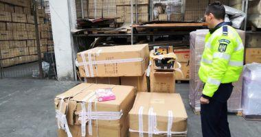 Mărfuri contrafăcute, indisponibilizate de oamenii legii din Constanţa