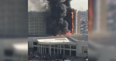GALERIE FOTO-VIDEO / INCENDIU VIOLENT la unul dintre cele mai mari spitale din Istanbul. Mai multe etaje, în flăcări