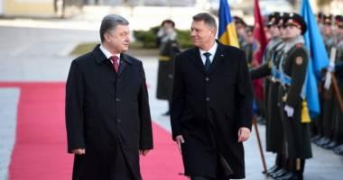 Președintele Klaus Iohannis, �nt�lnire cu omologul s�u ucrainean, Petro Poroșenko