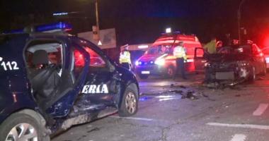 Maşină a jandameriei, implicată din nou într-un accident! PATRU VICTIME