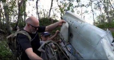 Epava unui avion doborât în Al Doilea Război Mondial, descoperită chiar de nepotul pilotului