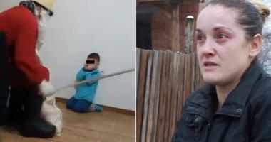 """Mama copilului umilit de bărbatul deghizat în Moş Nicolae: """"Am exagerat, copilul e sufletul meu"""""""