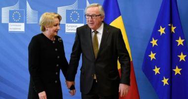 Juncker, la discuţii cu Dăncilă: Sper ca în timpul mandatului acestei Comisii, România să intre în Schengen