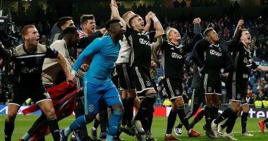 Real Madrid, eliminată de Ajax din Liga Campionilor, după 1-4 pe Bernabeu