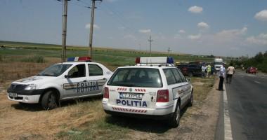 S-au răsturnat cu maşina pe drumul ce leagă Ovidiu de Mihail Kogălniceanu