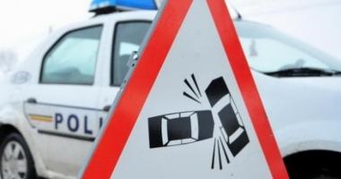 Şapte maşini implicate într-un accident rutier. Avarii de proporţii