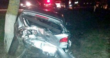 Accident provocat de un tânăr beat şi fără permis. Individul, lăsat în libertate