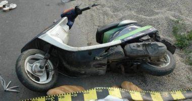 A intrat cu motoscuterul în gard!