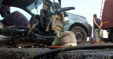 Grav accident rutier la Hanul Morilor. Dou� persoane au decedat!
