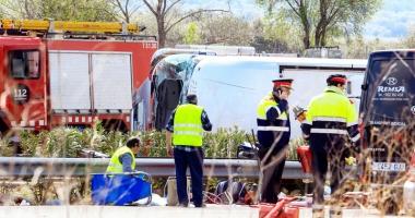 Grav accident de autocar  la Barcelona. 24 de victime