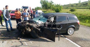 Accident în lanţ pe E85, după ce patru maşini s-au ciocnit