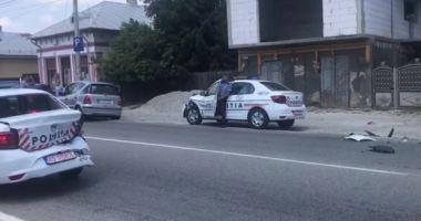 Trei maşini de poliţie, nou-nouţe, implicate într-un accident
