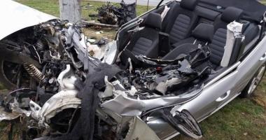 Poliţist de frontieră, mort într-un groaznic accident rutier - GALERIE FOTO