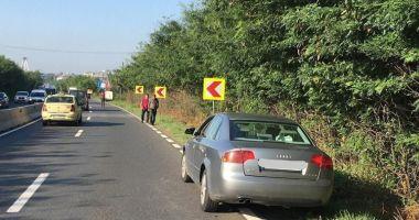 Pieton lovit de maşină, în localitatea Lazu