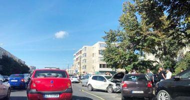 Accident rutier  la Constanţa,  după ce un şofer  nu a oprit la Stop
