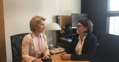 Adina Vălean a fost acceptată pentru funcția de comisar european de Ursula von der Leyen