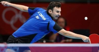 Jocurile Olimpice 2012: Adrian Crişan a fost eliminat în sferturile probei de simplu la tenis de masă