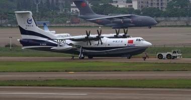 Cel mai mare avion amfibiu din lume a realizat zborul inaugural
