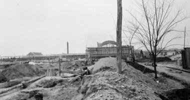 Imagini document din timpul construirii unor edificii importante ale oraşului Constanţa