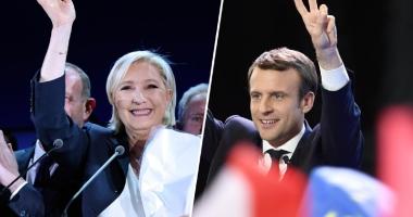 Emmanuel Macron - pro-european,  şi Marine Le Pen - anti-UE, în turul doi
