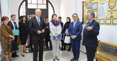 Ambasadorii Franţei  şi Germaniei  au vizitat mai  multe licee  din Constanţa