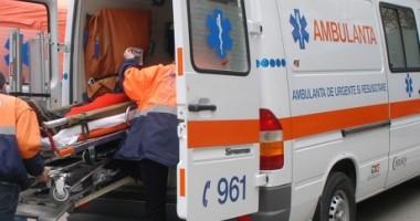 Tânără rănită într-un accident rutier