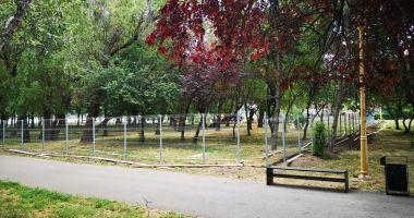 Ţarc pentru câini, în parcul Tăbăcărie