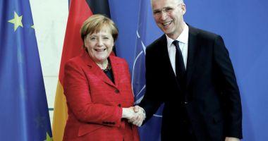 Angela Merkel şi Jens Stoltenberg, încrezători cu privire la unitatea NATO