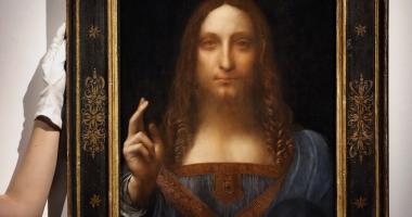 """Lucrarea """"Salvator Mundi"""" de Leonardo da Vinci, vândută cu milioane de dolari!"""