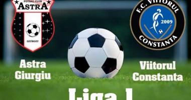 Victorie pentru Astra Giurgiu, în meciul cu Viitorul Constanţa
