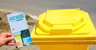 Atenţie, constănţeni! A fost suspendată distribuirea pubelelor pentru deşeurile reciclabile